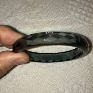 Faceted Lucite Bangle
